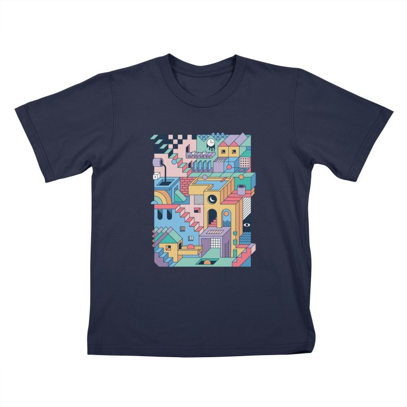 80s Escher Kids T-Shirt by thepapercrane's shop