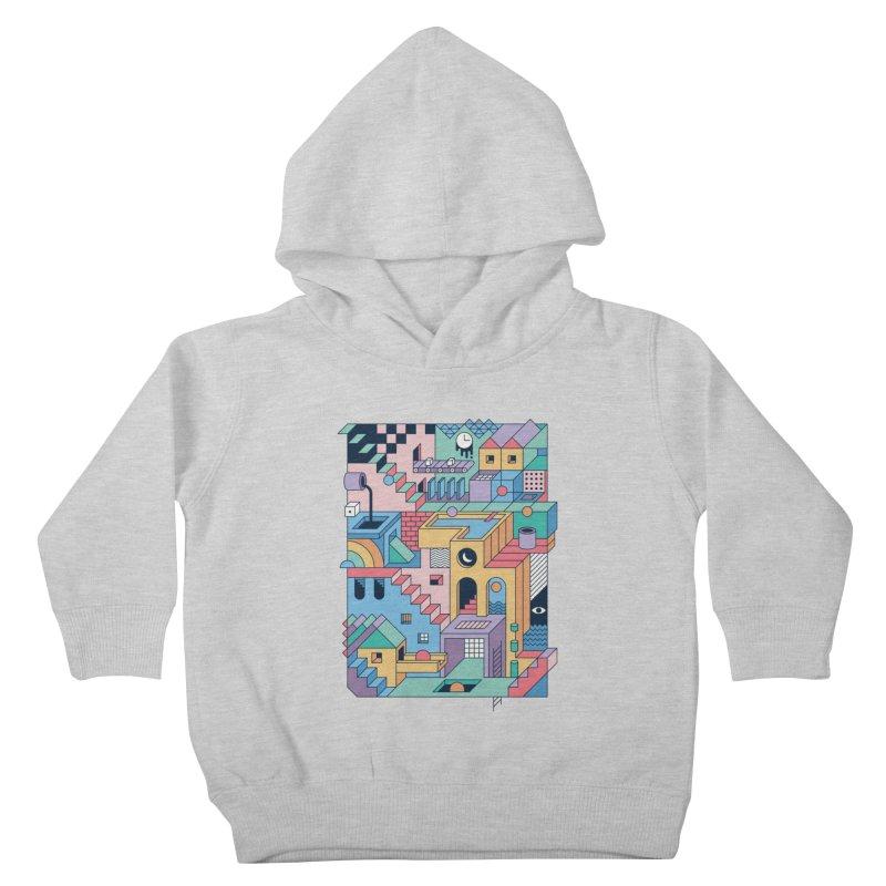 80s Escher Kids Toddler Pullover Hoody by thepapercrane's shop