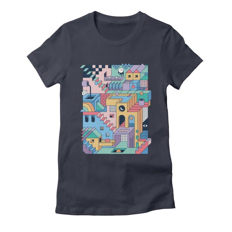 80s Escher Women's T-Shirt by thepapercrane's shop