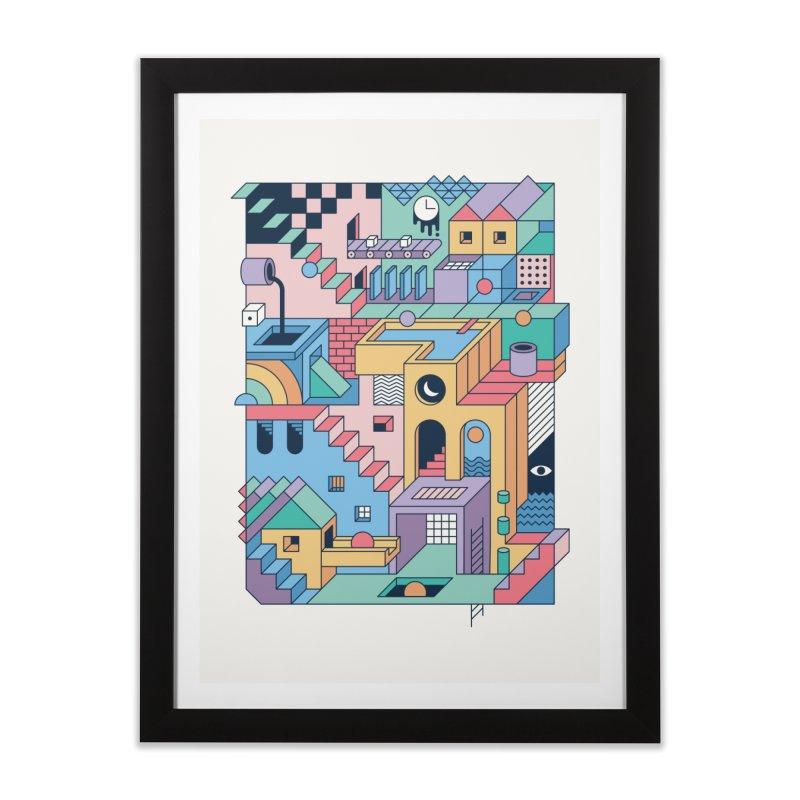 80s Escher Home Framed Fine Art Print by thepapercrane's shop
