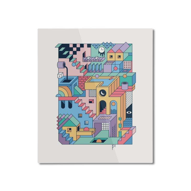 80s Escher Home Mounted Aluminum Print by thepapercrane's shop