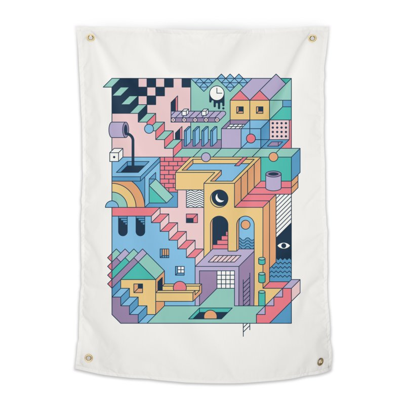 80s Escher Home Tapestry by thepapercrane's shop