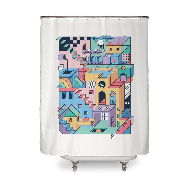 80s Escher Home Shower Curtain by thepapercrane's shop