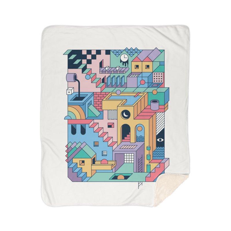 80s Escher Home Blanket by thepapercrane's shop