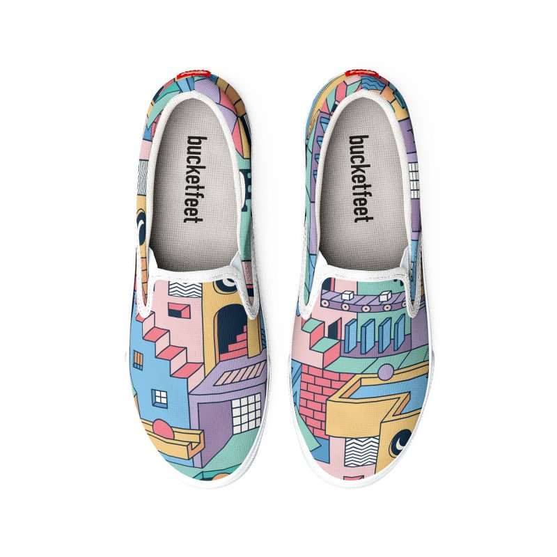 80s Escher Men's Shoes by thepapercrane's shop