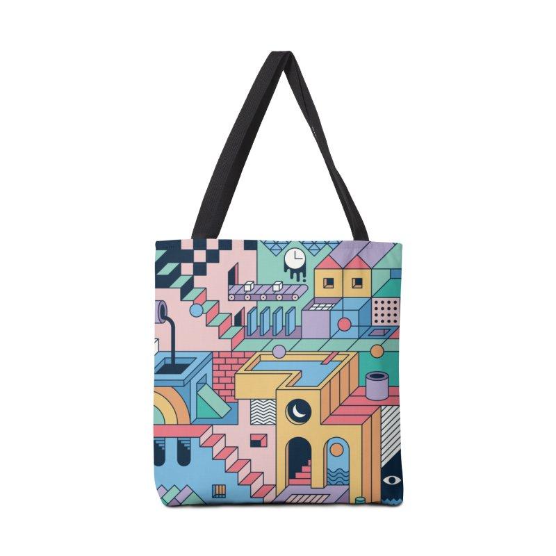 80s Escher Accessories Bag by thepapercrane's shop