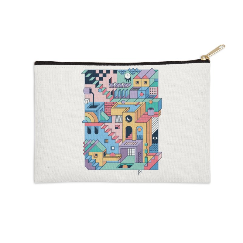 80s Escher Accessories Zip Pouch by thepapercrane's shop