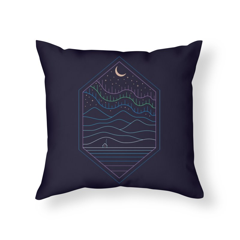 Lights Of The North Home Throw Pillow by thepapercrane's shop