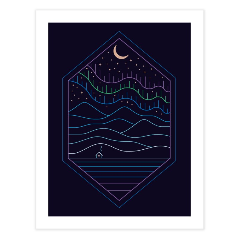 Lights Of The North Home Fine Art Print by thepapercrane's shop