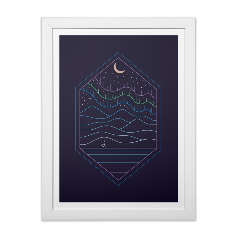 Lights Of The North Home Framed Fine Art Print by thepapercrane's shop