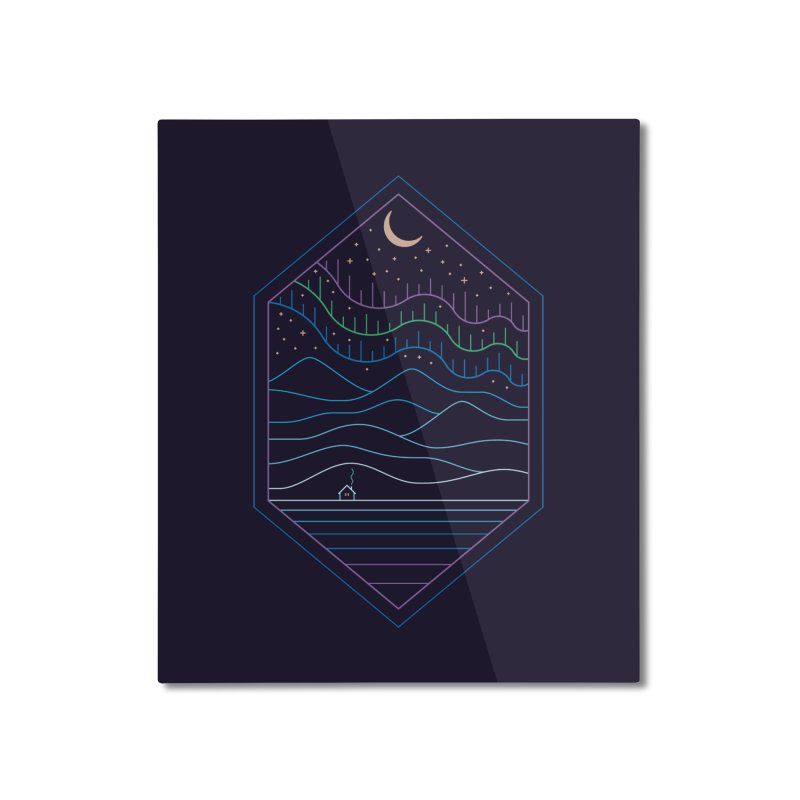 Lights Of The North Home Mounted Aluminum Print by thepapercrane's shop