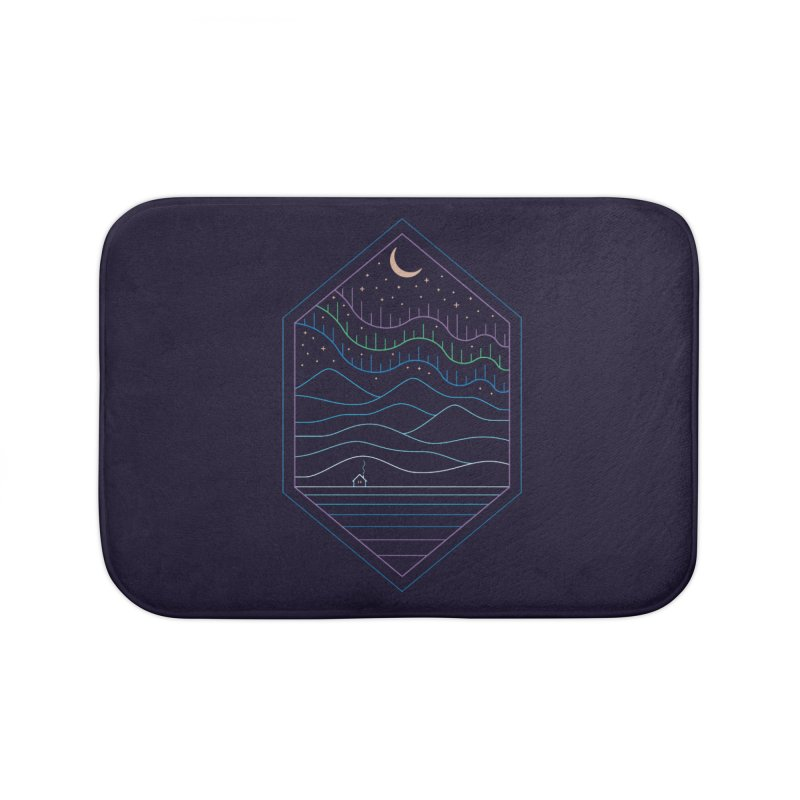 Lights Of The North Home Bath Mat by thepapercrane's shop