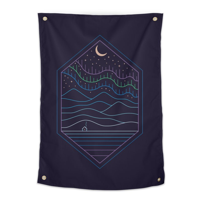 Lights Of The North Home Tapestry by thepapercrane's shop