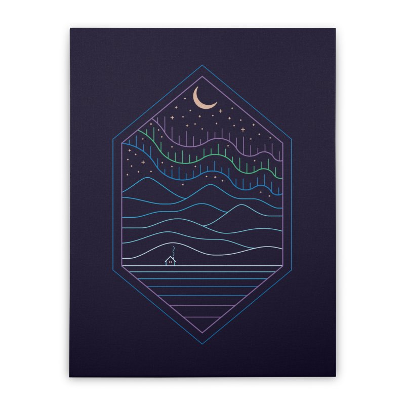 Lights Of The North Home Stretched Canvas by thepapercrane's shop