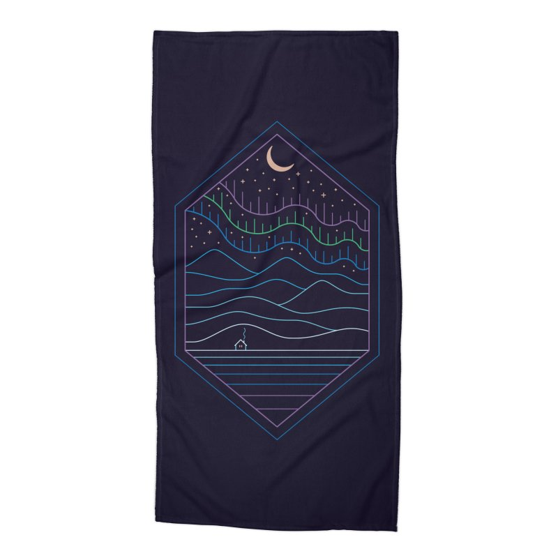 Lights Of The North Accessories Beach Towel by thepapercrane's shop