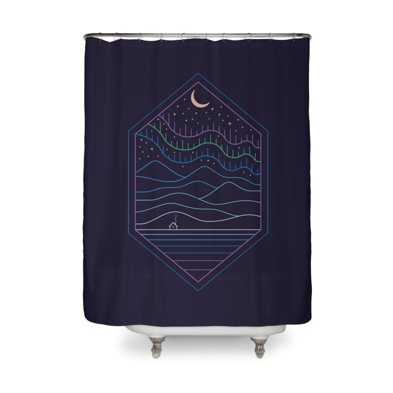 Lights Of The North Home Shower Curtain by thepapercrane's shop