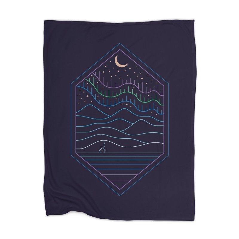 Lights Of The North Home Blanket by thepapercrane's shop