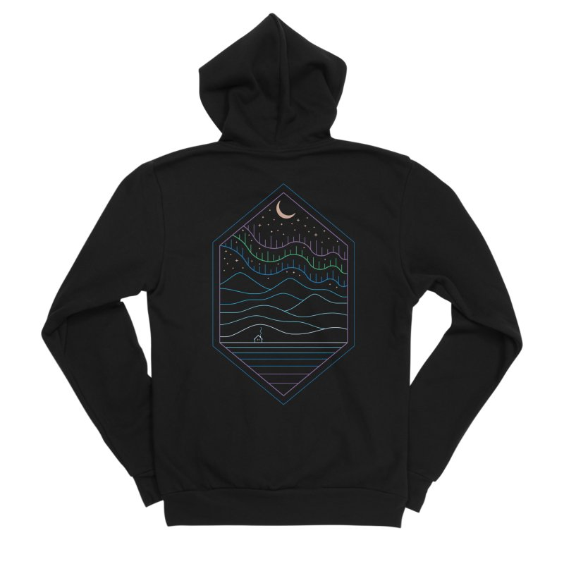 Lights Of The North Men's Zip-Up Hoody by thepapercrane's shop