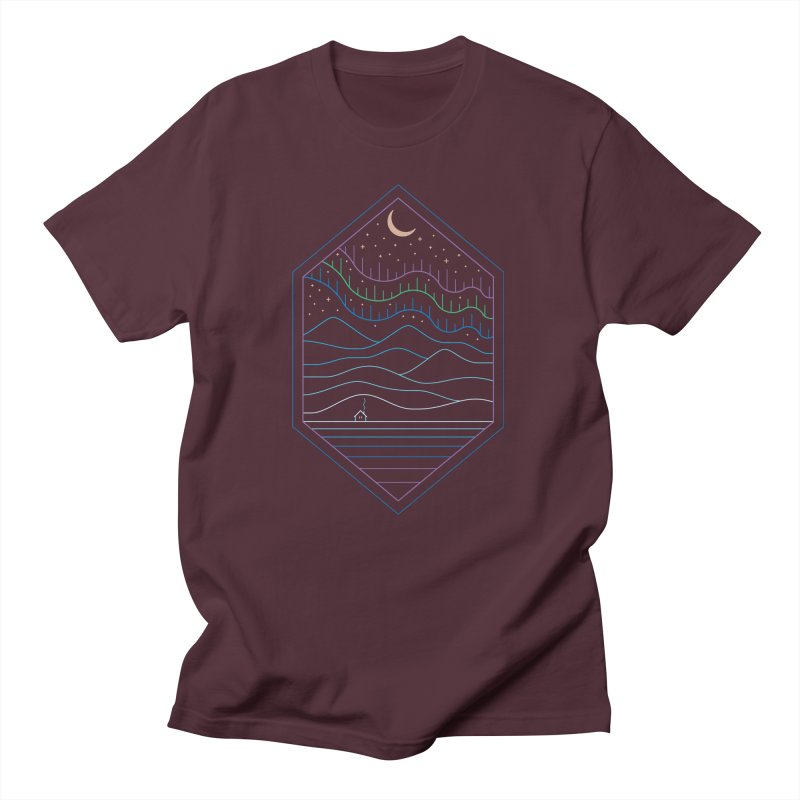 Lights Of The North Men's T-Shirt by thepapercrane's shop