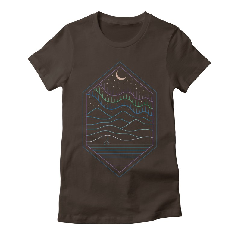 Lights Of The North Women's T-Shirt by thepapercrane's shop