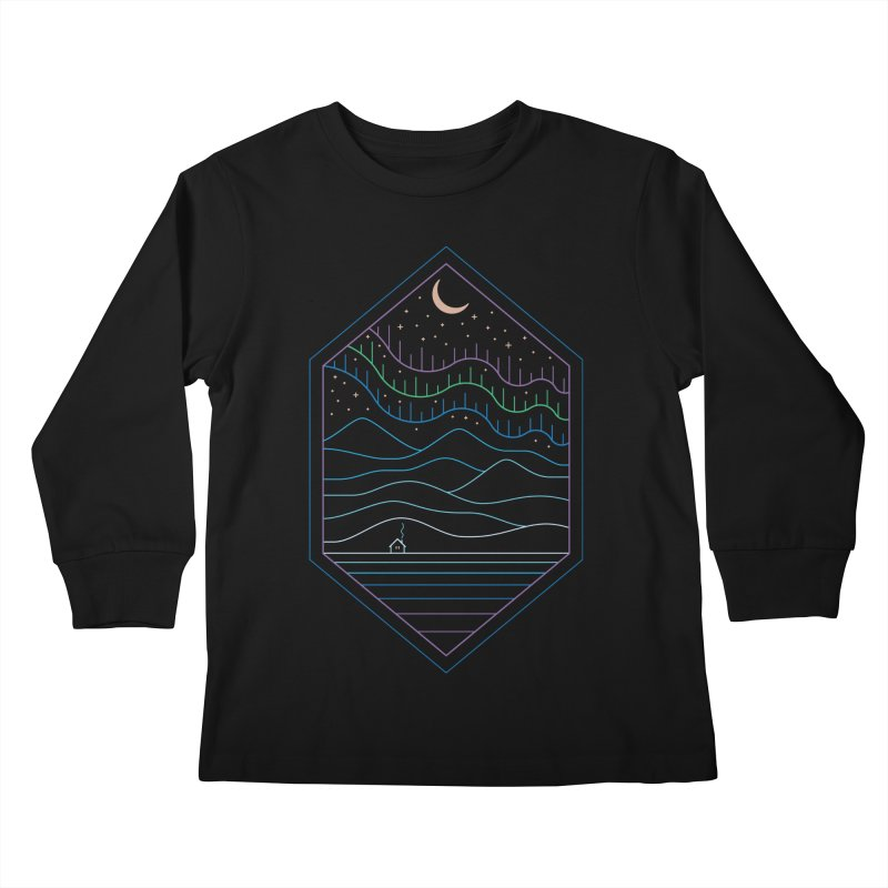 Lights Of The North Kids Longsleeve T-Shirt by thepapercrane's shop