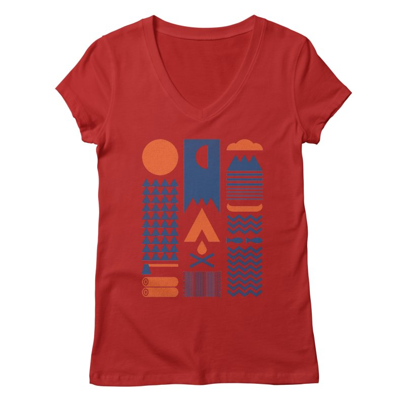 Simplify Women's V-Neck by thepapercrane's shop