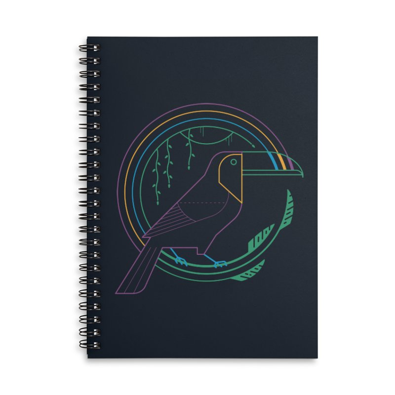 Rainbow Forest Accessories Notebook by thepapercrane's shop