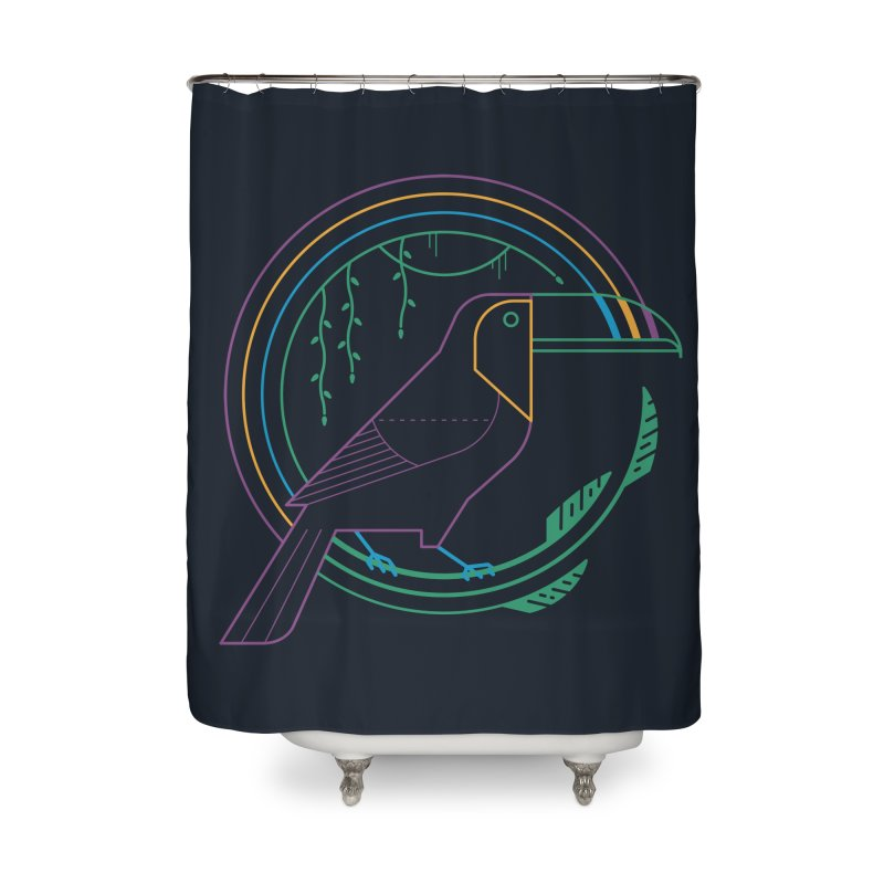 Rainbow Forest Home Shower Curtain by thepapercrane's shop