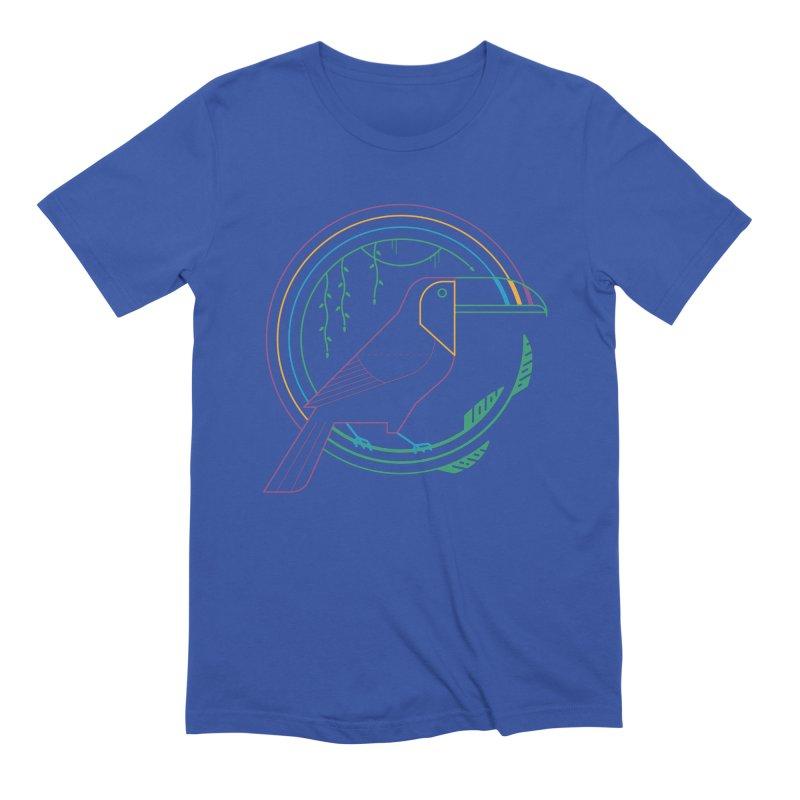 Rainbow Forest Men's T-Shirt by thepapercrane's shop