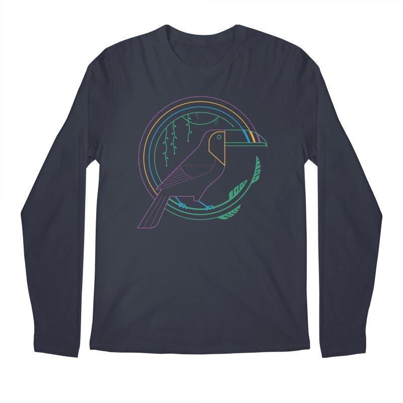 Rainbow Forest Men's Longsleeve T-Shirt by thepapercrane's shop