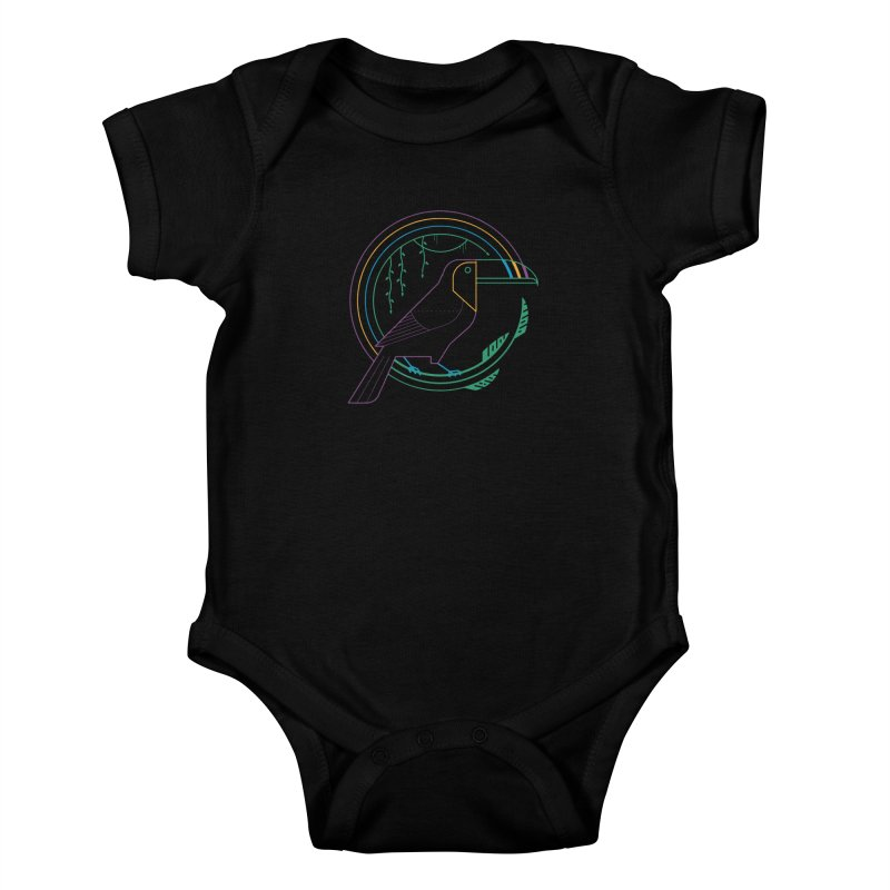 Rainbow Forest Kids Baby Bodysuit by thepapercrane's shop