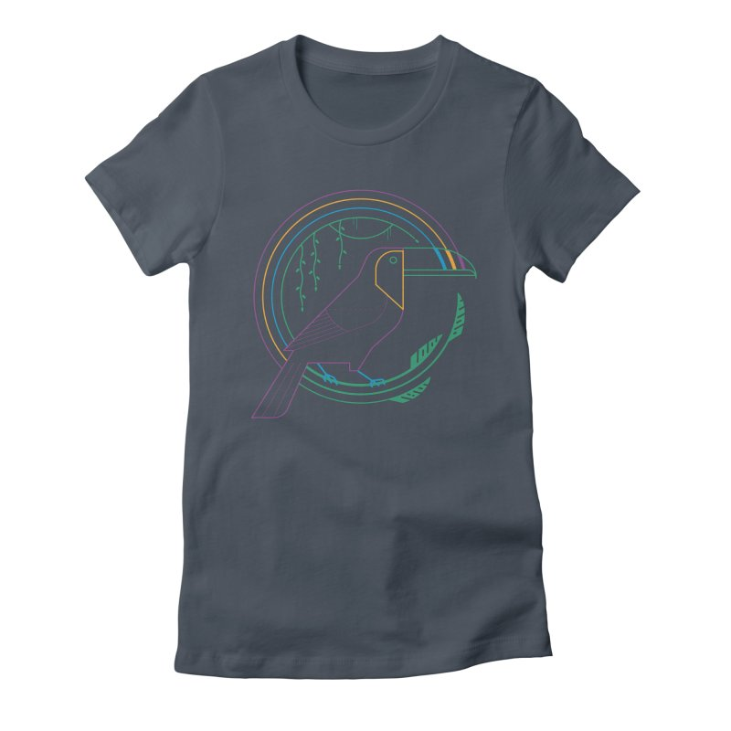 Rainbow Forest Women's T-Shirt by thepapercrane's shop