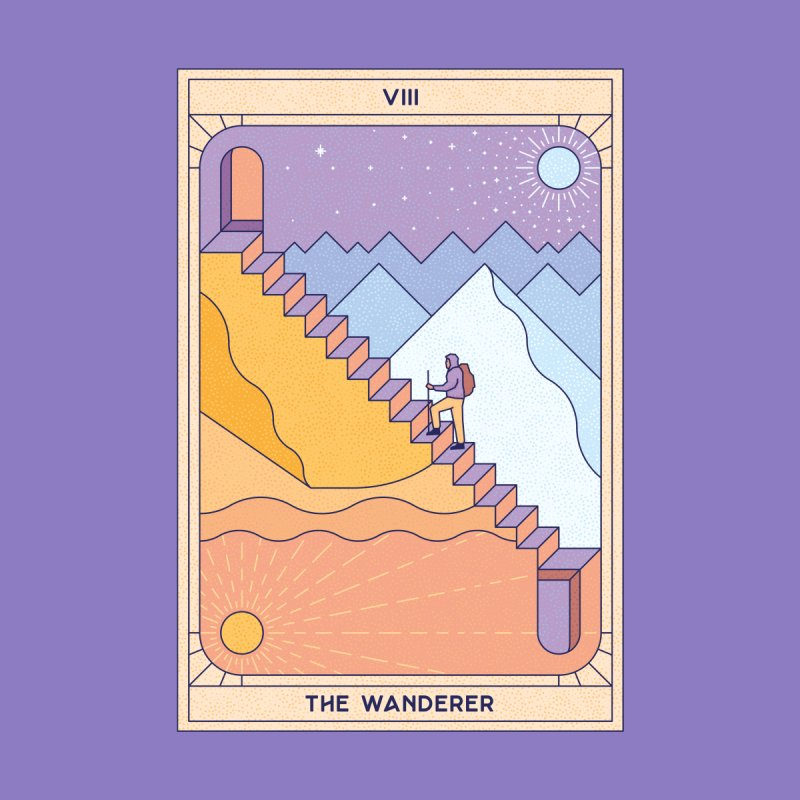 The Wanderer Home Shower Curtain by thepapercrane's shop