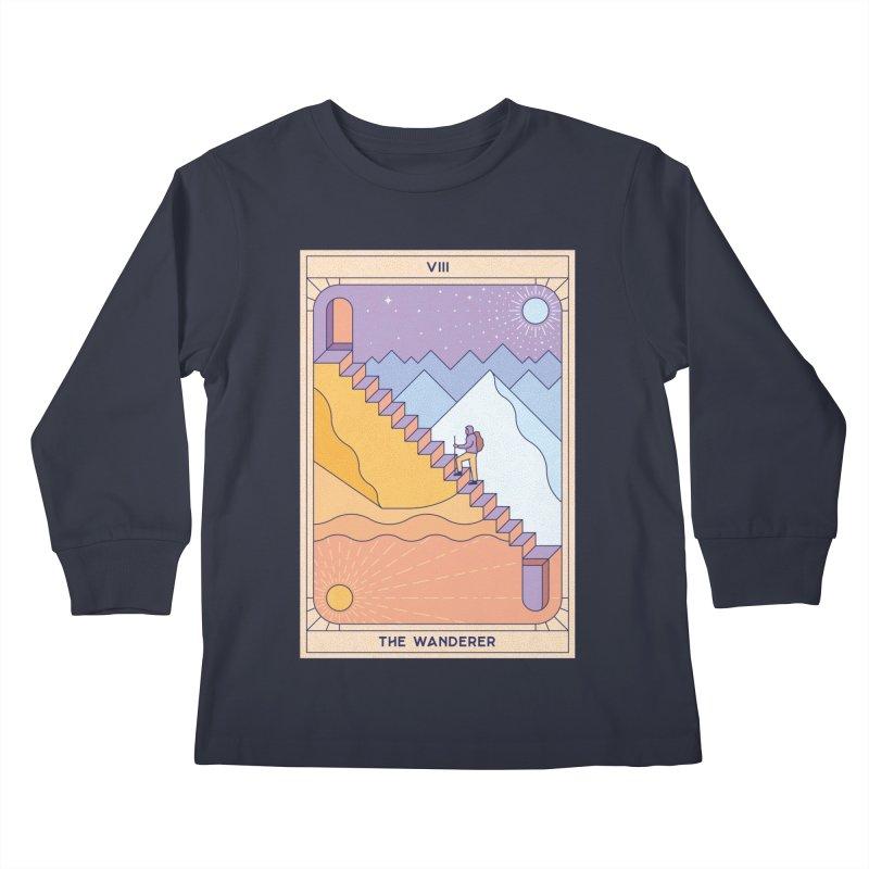 The Wanderer Kids Longsleeve T-Shirt by thepapercrane's shop
