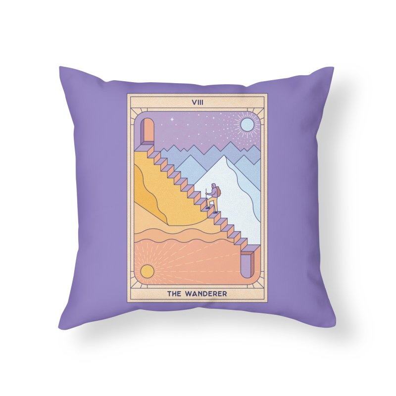 The Wanderer Home Throw Pillow by thepapercrane's shop
