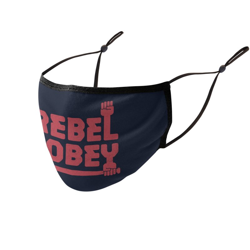 Rebel or Obey Accessories Face Mask by thepapercrane's shop