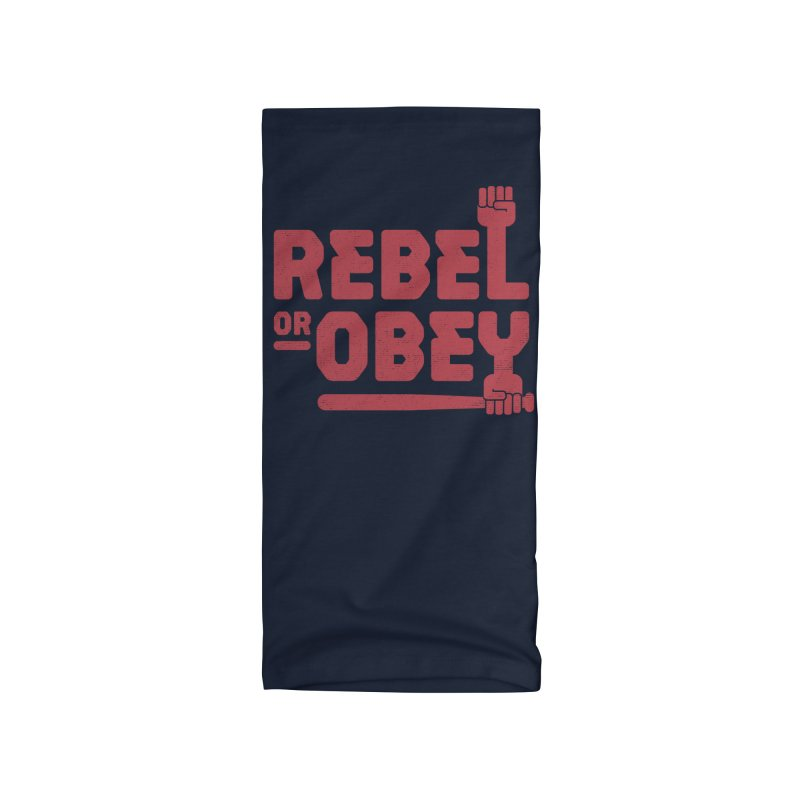 Rebel or Obey Accessories Neck Gaiter by thepapercrane's shop