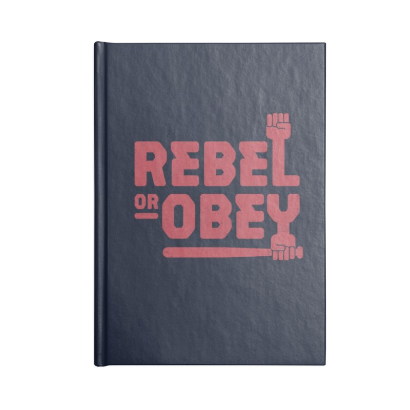 Rebel or Obey Accessories Notebook by thepapercrane's shop