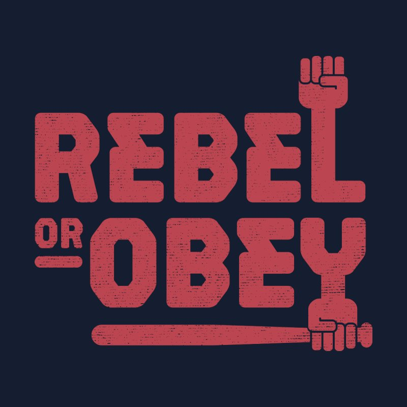 Rebel or Obey Men's Longsleeve T-Shirt by thepapercrane's shop