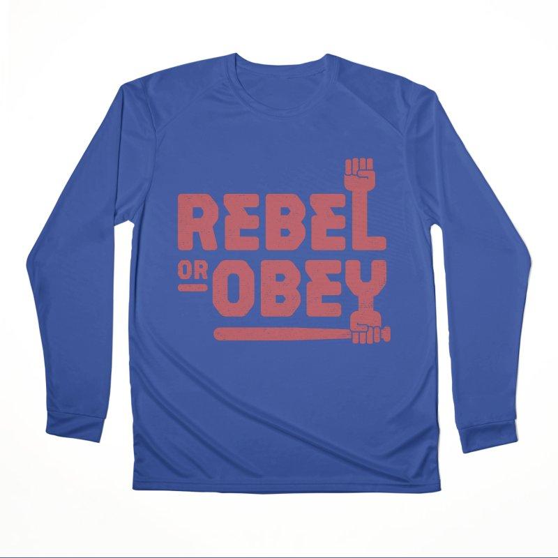 Rebel or Obey Men's Longsleeve T-Shirt by thepapercrane's shop