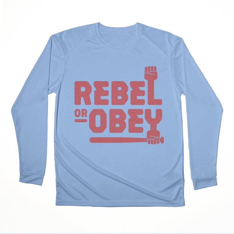 Rebel or Obey Women's Longsleeve T-Shirt by thepapercrane's shop