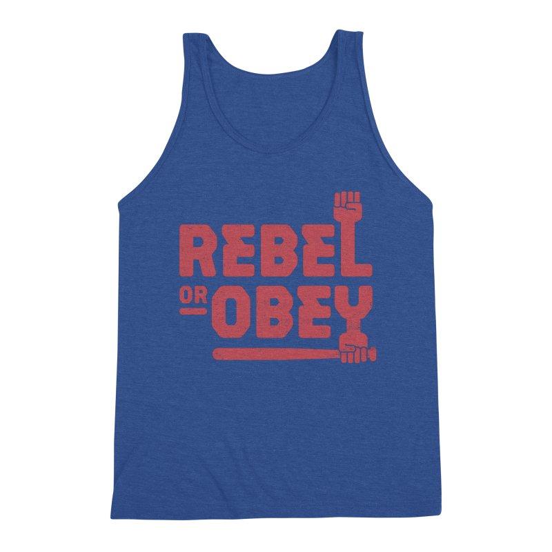 Rebel or Obey Men's Tank by thepapercrane's shop