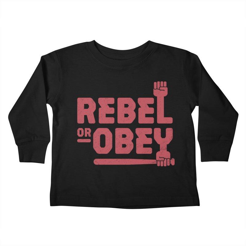 Rebel or Obey Kids Toddler Longsleeve T-Shirt by thepapercrane's shop