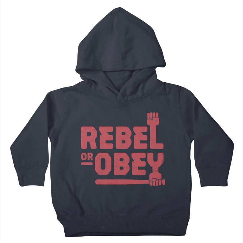 Rebel or Obey Kids Toddler Pullover Hoody by thepapercrane's shop