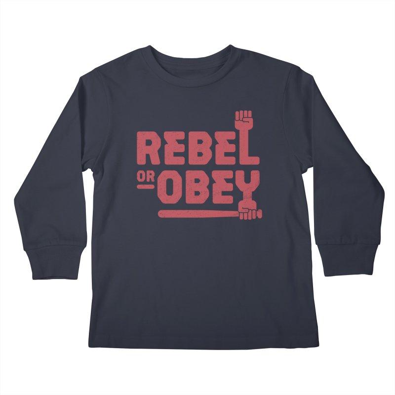 Rebel or Obey Kids Longsleeve T-Shirt by thepapercrane's shop
