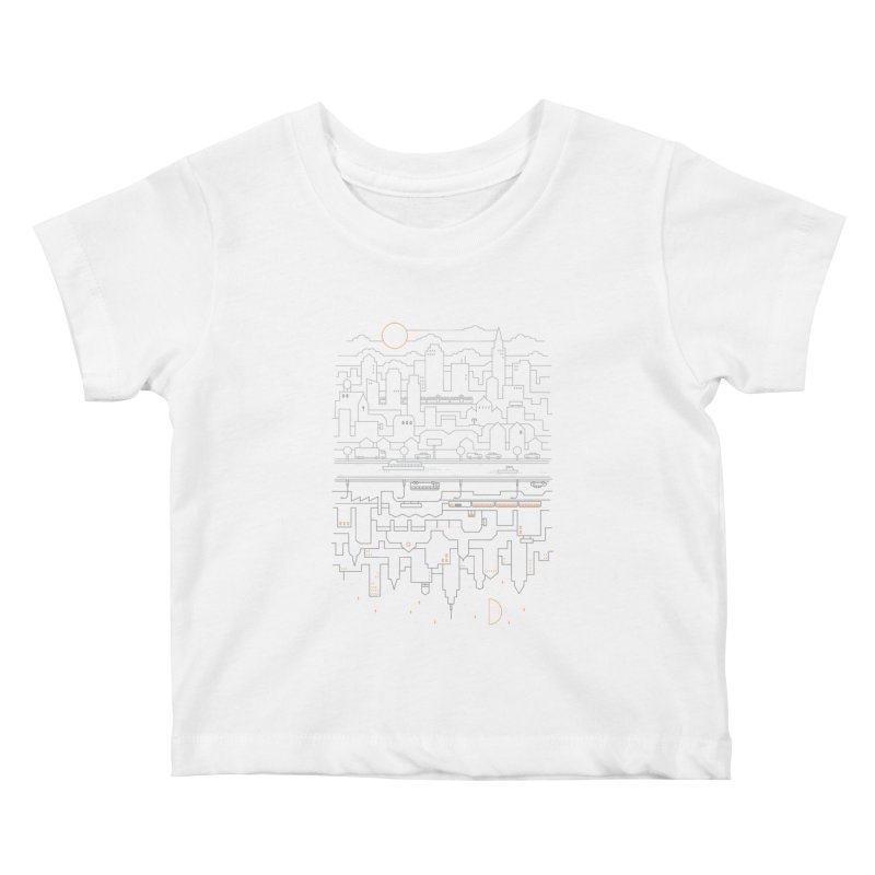 City 24 Kids Baby T-Shirt by thepapercrane's shop