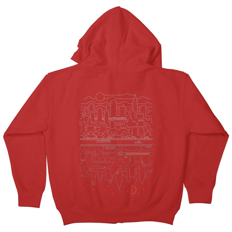 City 24 Kids Zip-Up Hoody by thepapercrane's shop