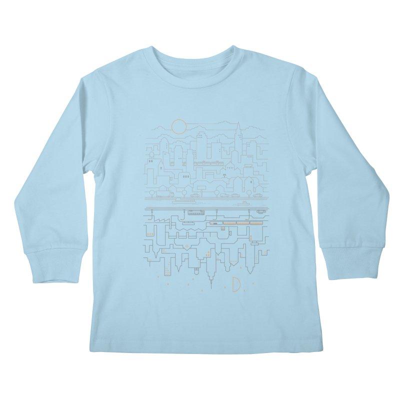 City 24 Kids Longsleeve T-Shirt by thepapercrane's shop