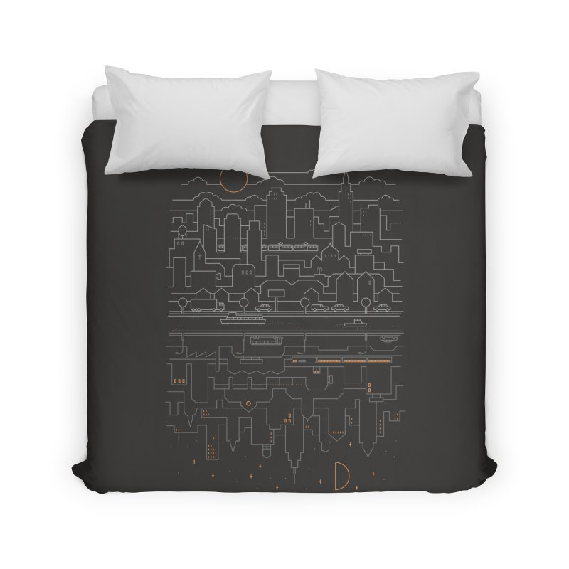 City 24 Home Duvet by thepapercrane's shop