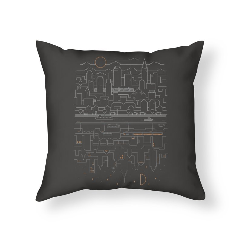 City 24 Home Throw Pillow by thepapercrane's shop